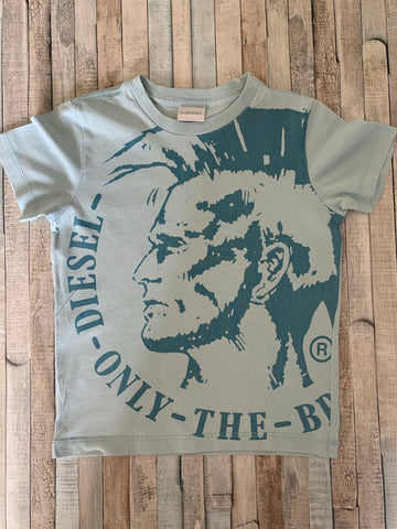 Diesel Head Logo T-Shirt Size 5 - Nippers Preloved children's clothing