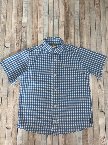 Osh Kosh Blue Check Shirt 5 Years - Nippers Preloved children's clothing