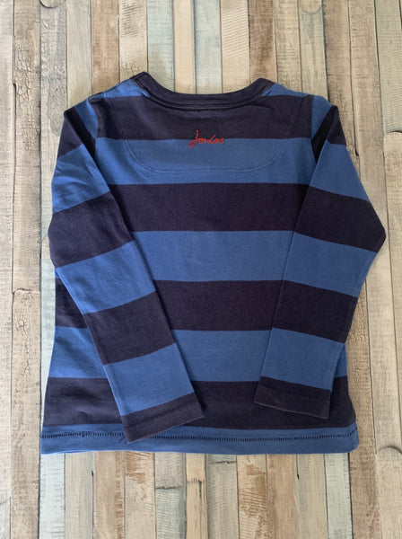 Joules Blue Bear Long Sleeve T-Shirt 4 Years - Nippers Preloved children's clothing