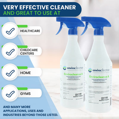 Envirocleanse-A EPA Disinfectant 32oz Bottle - 1 Case of 12 Bottles - Sanifog Safety Supplies
