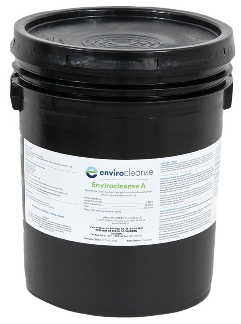 Envirocleanse-A EPA Disinfectant 5 Gallons - Sanifog Safety Supplies