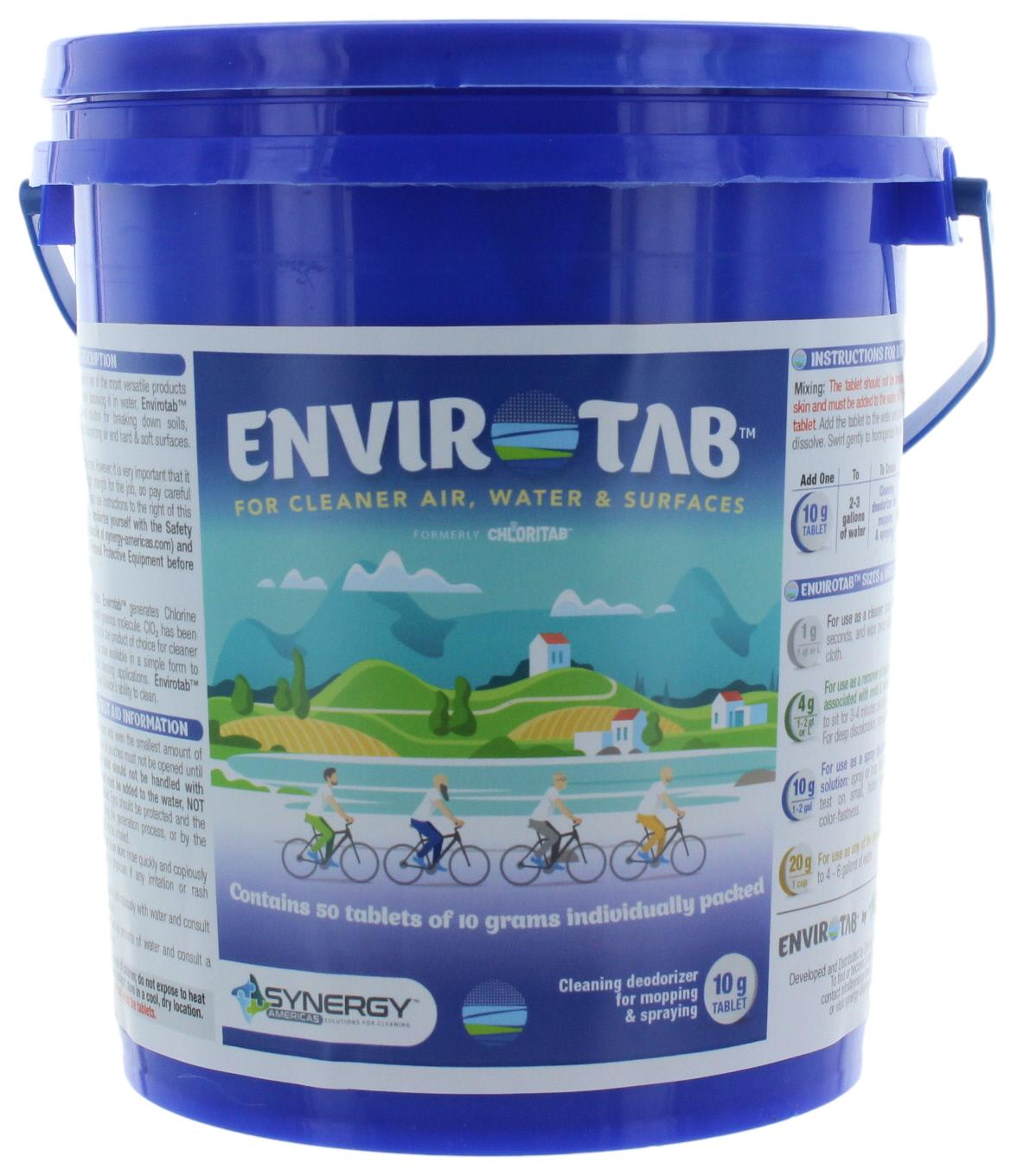 Envirotab for Cleaning 50 x 10g tablets/pail - Sanifog Safety Supplies