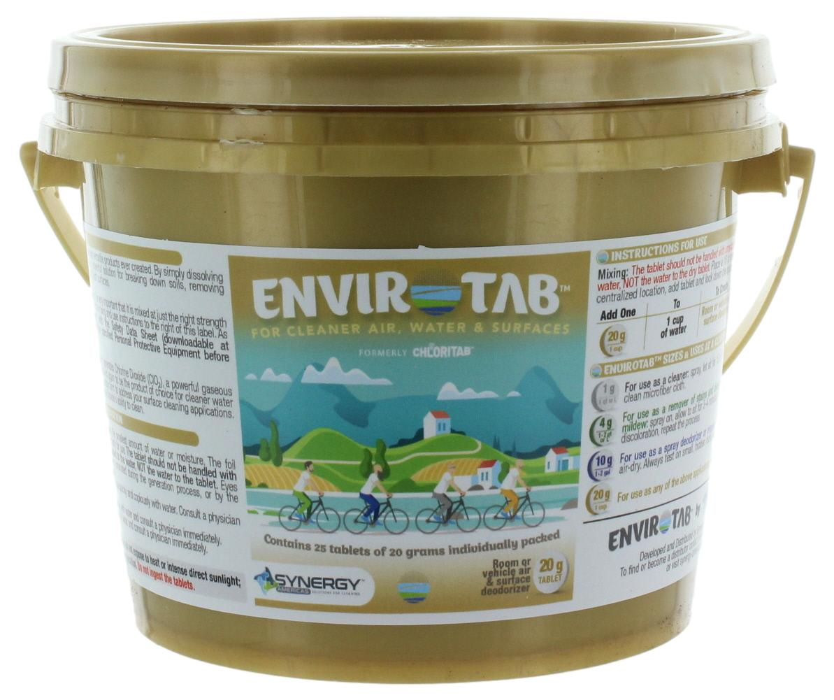 Envirotab for Cleaning 25 x 20g tablets/pail - Sanifog Safety Supplies