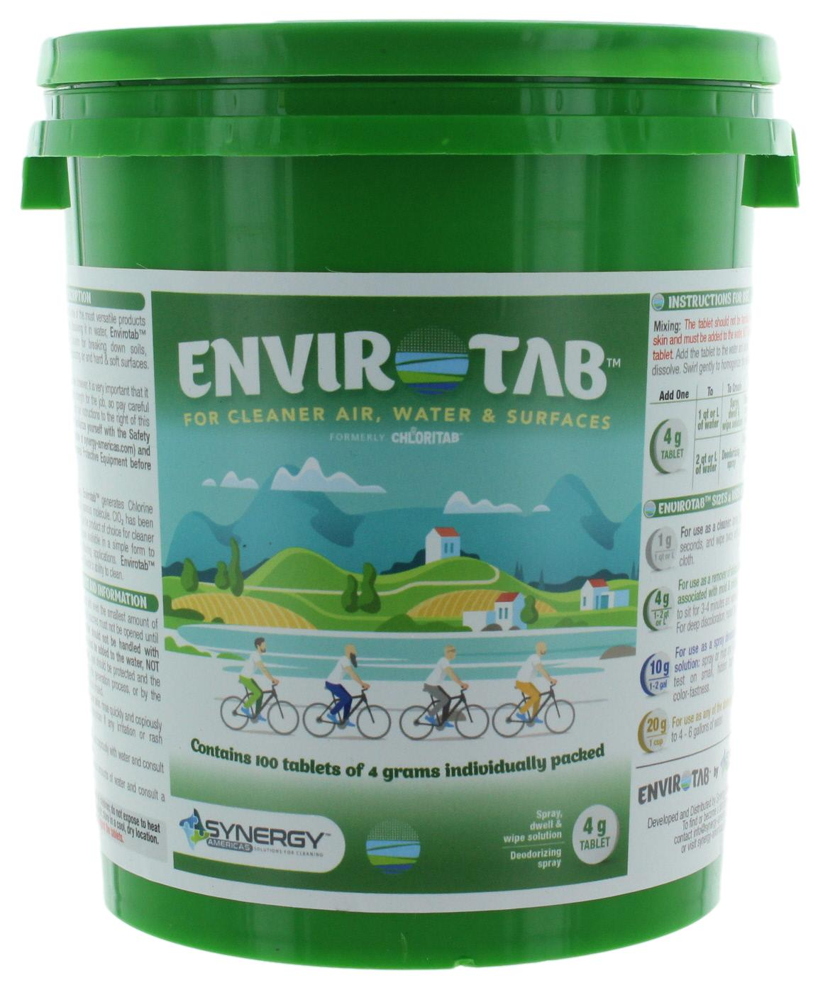 Envirotab for Cleaning 100 x 4g tablets/pail - Sanifog Safety Supplies