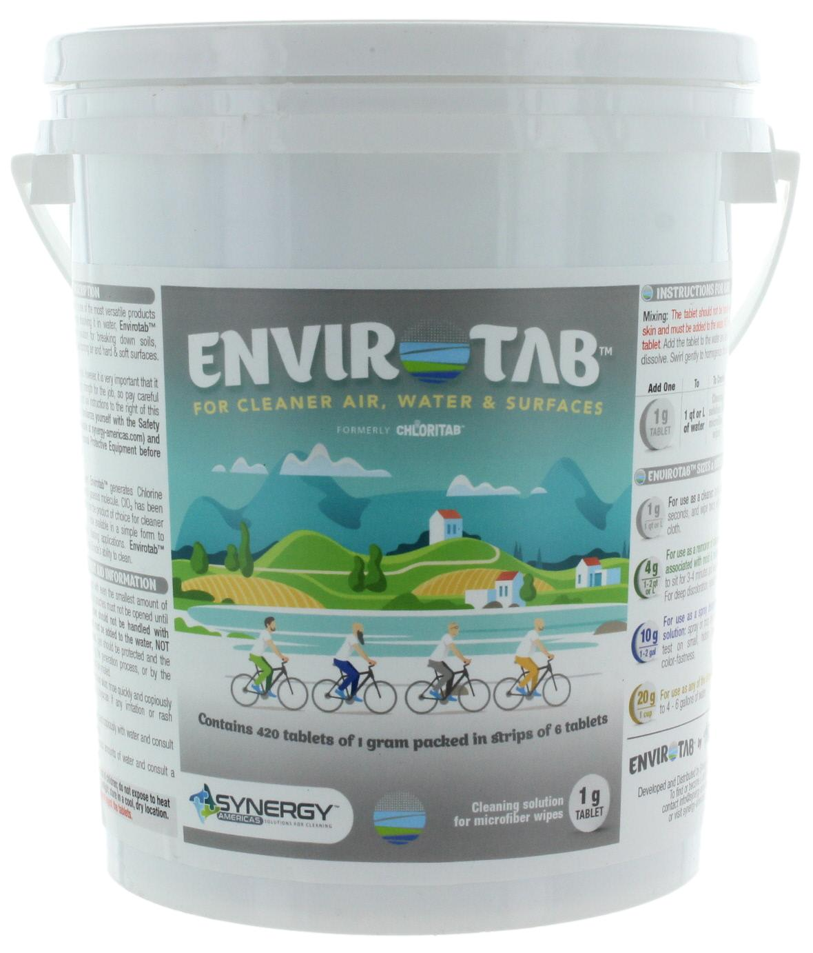 Envirotab for Cleaning 420 x 1g tablets/pail - Sanifog Safety Supplies