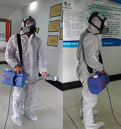 Cold Fogger 5 Liter and 12 Gallons of Hydrolyte Disinfectant (Commercial or Residential) - ULV Cold Fogger Machine Backpack sanitizer portable thermal Sanifog Disinfectant Solution Chemical Fogger Machine Cordless Handheld Electric Sprayer Disinfecting for Hospitals Dental Office Room School Church Restaurant Home 5L 3L 16L Liter 24V 240W