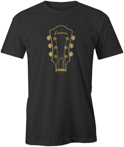 EASTMAN® Black w/ Gold Metallic Headstock