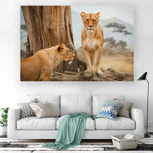Load image into Gallery viewer, Two Lionesses