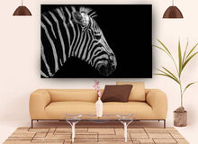 Load image into Gallery viewer, Zebra in black and white