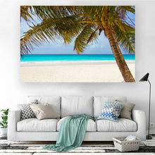 Load image into Gallery viewer, Sea Landscape with Palm Tree