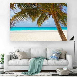 Sea Landscape with Palm Tree