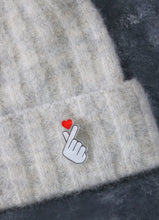 Load image into Gallery viewer, Korean Heart Gesture Acrylic Pin