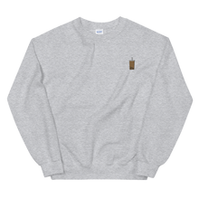 Load image into Gallery viewer, Bubble Tea Embroidered Crewneck Sweater (Unisex Adult)