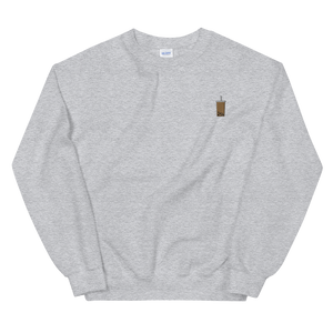 Bubble Tea Embroidered Crewneck Sweater (Unisex Adult)