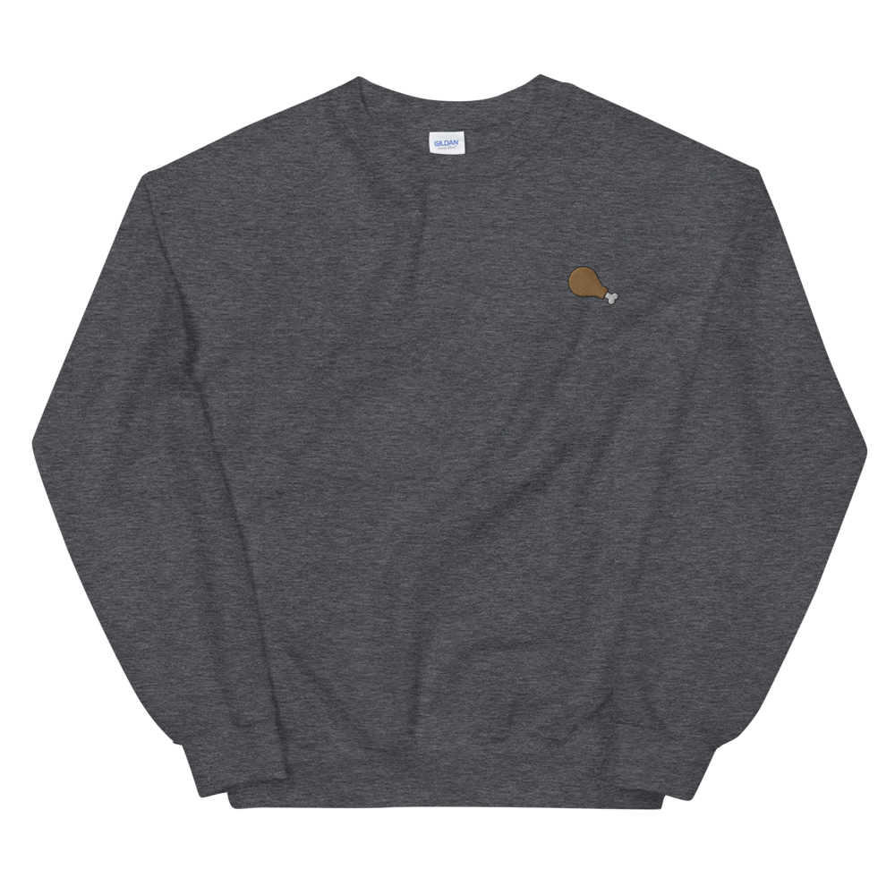 Fried Chicken Embroidered Crewneck Sweater (Unisex Adult)
