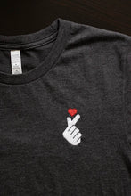 Load image into Gallery viewer, Korean Heart Gesture Embroidered T-Shirt (Unisex Adult)
