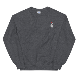Korean Heart Gesture Embroidered Crewneck Sweater (Unisex Adult)
