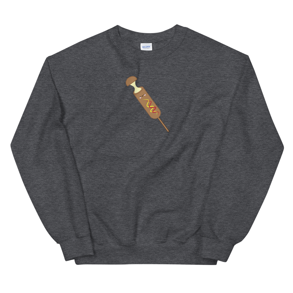 Mozza Corn Dog Crewneck Sweater (Unisex Adult)