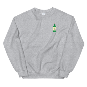 Peach Soju Embroidered Crewneck Sweater (Unisex Adult)