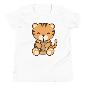 Bubble Tea Tiger Kids T-Shirt
