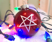 Pentagram Christmas Ornament, Shaterproof