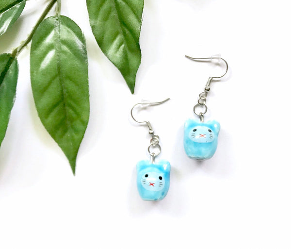 Porcelain Mice Earrings