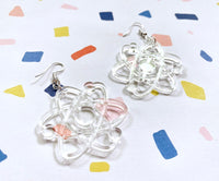Clear Atomic Earrings