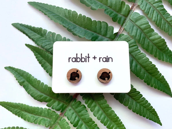Animal Crossing Leaf Stud Earrings