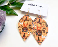 The Witch's House Earrings, Vegan Faux Leather