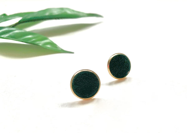 Evergreen Velvet Stud Earrings