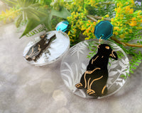 Summer Bunny Acrylic Earrings - Dark Menagerie