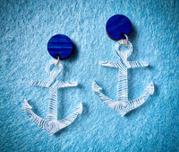 Whirlpool Anchor Earrings