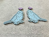 Pastel Bird Earrings