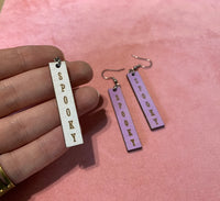 Spooky Cute Bar Earrings