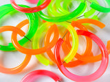 Fluorescent Neon Hoop Earrings