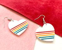 Retro Rainbow Earrings, Acrylic
