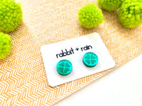 Mirrored Shamrock Studs