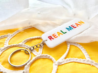 Real Mean Rainbow Keychain
