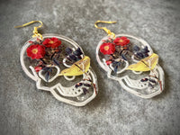 Acrylic + Resin Skull Earrings - Dark Menagerie