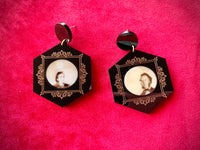 Double Exposure - Spirit Photography Earrings