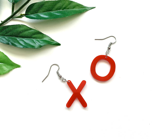 XO Earrings, Acrylic