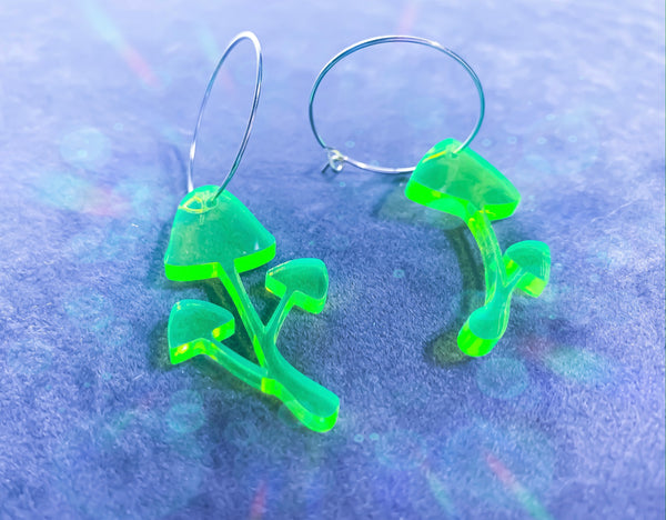 Acid Mushroom Hoop Earrings