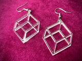 Geometric Cube Acrylic Earrings