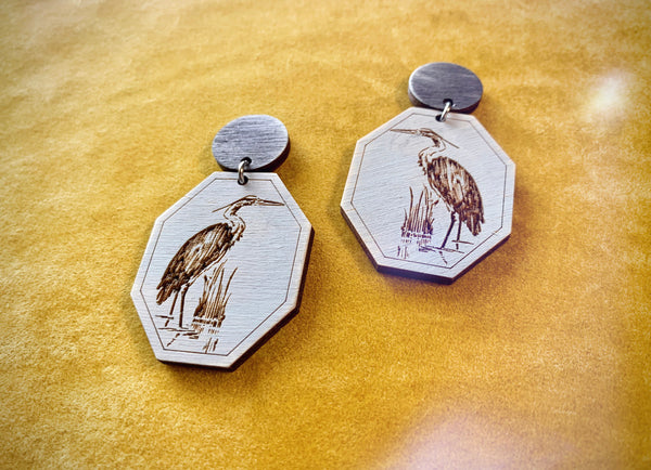 Ardea Heron Earrings