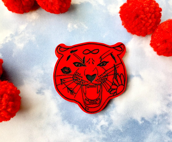 Lovecat Tiger Brooch