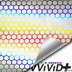 Headlight vinyl tint - neo chrome micro hex clear