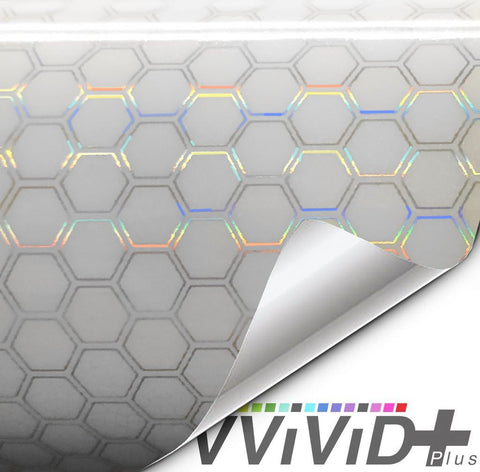 Headlight vinyl tint - neo chrome hex clear