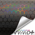 Headlight vinyl tint - neo chrome micro hex smoked
