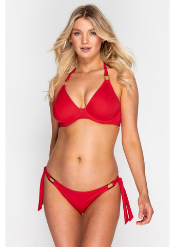Boudoir Beach Crimson Red Tieside Bikini Brief