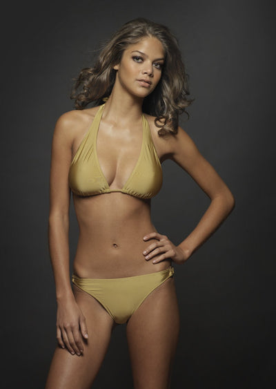 Malibu Gold Triangle Bikini Top